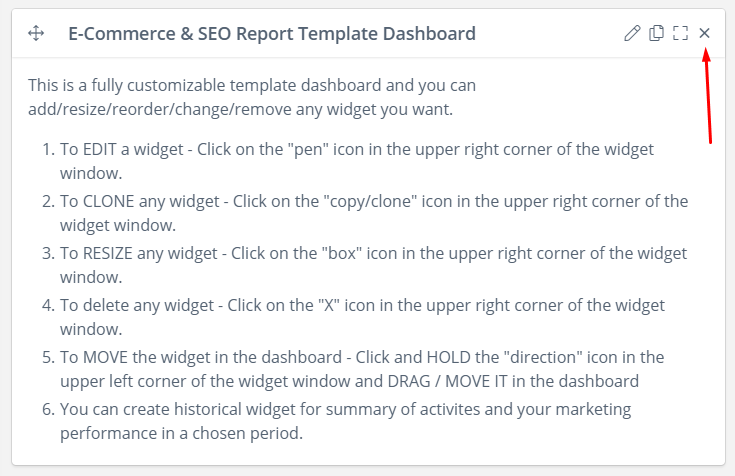 ecommerce seo reporting dashboard