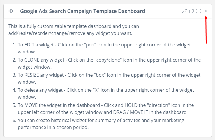 google ads search report template