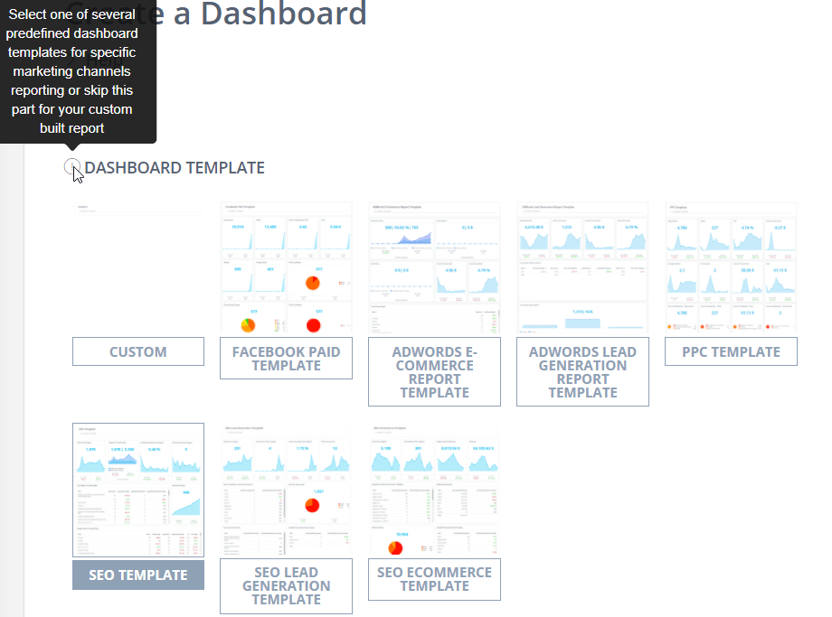 Reportz dashboard template