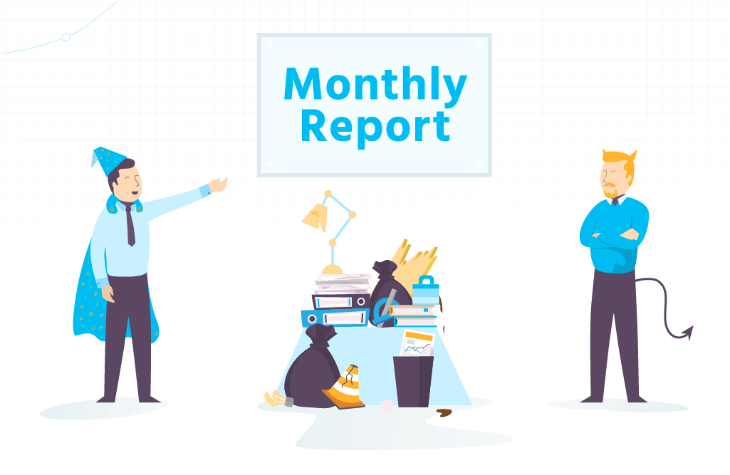 monthly reporting good and bad | Reportz